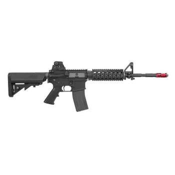 Tréninková laserová puška, airsoft, AR15 červený Laser (KWA LM4 RIS PTR GreenGas) Laser Ammo