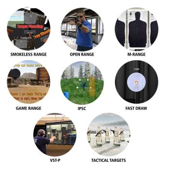 Diamantová edice Smokeless Range 2.0, 8 různých střeleckých simulátorů + short throw kamera, Laser Ammo