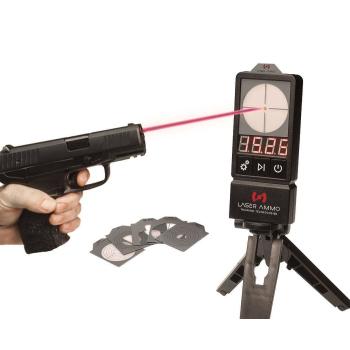 Set LaserPET II, elektronický terč  + 9 mm, SureStrike Cartridge, červený laser, Laser Ammo
