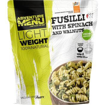 Vakuově sušené jídlo - Fusilli se špenátem a vlašskými ořechy (VEGAN) - Lightweight, Adventure Menu