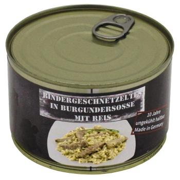 Vojenská konzerva - Sekané hovězí maso s rýží, 400 g, MFH
