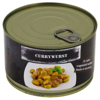 Vojenská konzerva - Klobása s kari, 400 g, MFH