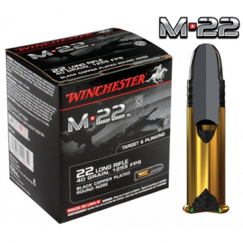 Náboje .22 LR Winchester M22, 40 gr, 500 ks