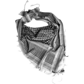 Šátek Shemagh, 110 x 110 cm, černobílý, Mil-Tec