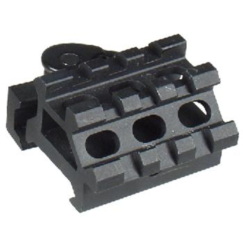 Rychloupínací picatinny montáž úhlovaná/zvýšená s 3 picatinny sloty, černá, UTG