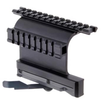 Rychloupínací postranní montáž s dvěma picatinny raily GEN 5 AK, černá, UTG