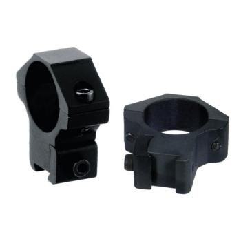 """Montážní rybinové kroužky 1"""", 2 ks, medium compact s aretačním kolíkem, černé, UTG"""