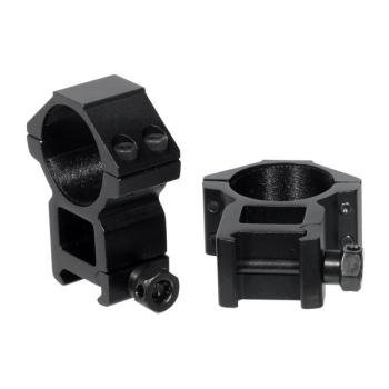 Montážní picatinny kroužky 30 mm, 2 ks, vysoké, Accushot, černé, UTG