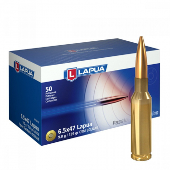 Náboje Lapua 6,5x47 SCENAR, GB458, OTM, 9,00 g, 139 gr, 50 ks
