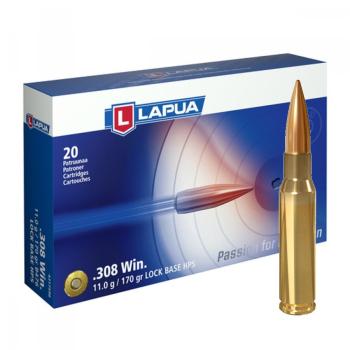 Náboje Lapua .308 Win LOCK BASE, B476, FMJBT, 11,00 g, 170 gr, 20 ks