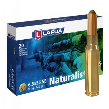 Náboje Lapua 6,5x55 Swedish NATURALIS, N563, Solid, 9,10 g, 140 gr, 20 ks