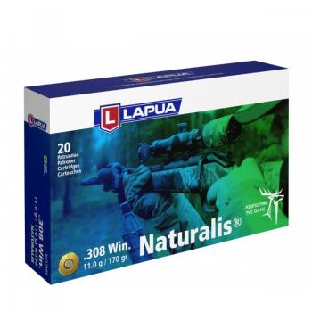 Náboje Lapua .308 Win NATURALIS, N558, Solid, 11,00 g, 170 gr, 20 ks