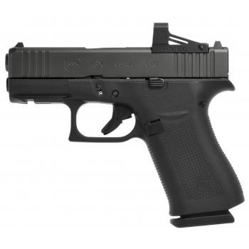 Pistole Glock 43X MOS s kolimátorem RMSc Shield Optic, 9 mm Luger, černá