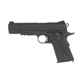 Airsoftová pistole Colt 1911 Rail Gun NB, plynová CO2, celokov, Cyber Gun