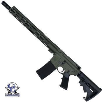 """Samonabíjecí puška AR .223 WYLDE, 16"""" 4150 Nitridováno, 1:8, O.D. Green, GLFA"""