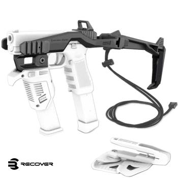 Konverze Recover pro pistole Glock, souprava s raily a popruhem, černá, Recover Tactical