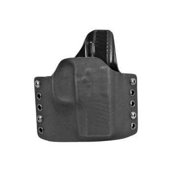 Kydex pouzdro RH Holsters Glock 43X s railem, pravé, čer./čer., pol. swtg., pr. 40 mm