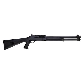 """Samonabíjecí brokovnice Benelli M4 BLACK 18,5"""", pevná pažba a pistolovka"""