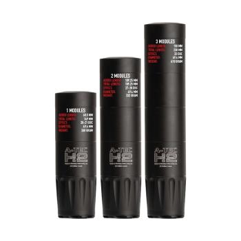 Tlumič H2 Mega, tří modulový, pro ráže do .375 (9,5 mm), A-TEC