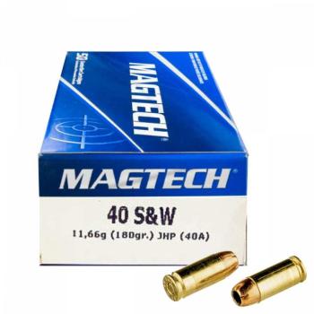 Náboje 40 S&W JHP (40A) 11,66 g 180 grs, 50 ks, Magtech