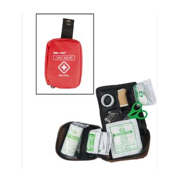 Mini lékarnička první pomoci, červená, Mil-Tec