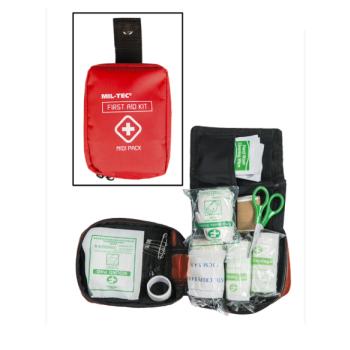 Střední lékarnička první pomoci, červená, Mil-Tec