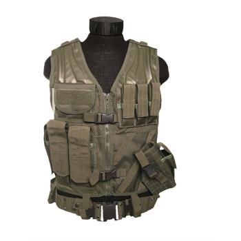 Vesta USMC Combat s páskem, olivová, Mil-Tec