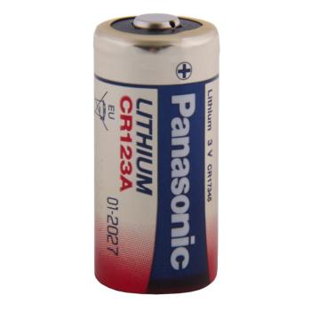 Nenabíjecí lithiová baterie CR123A Lithium, 1 ks, Blistr, Panasonic