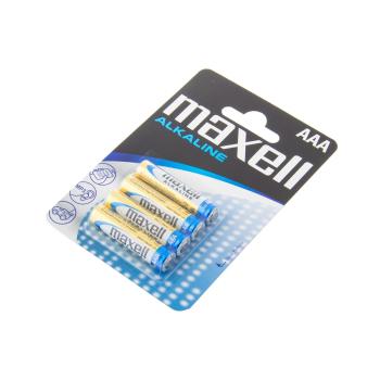 Nenabíjecí alkalinové baterie AAA, 4 ks Blistr, Maxell