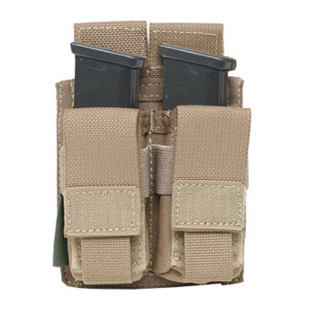 Dvojsumka DA na 2 zásobníky do pistole, suchý zip, Warrior