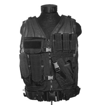 Taktická vesta USMC s opaskem, černá, Mil-Tec