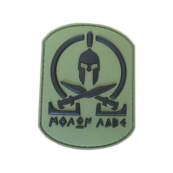 PVC nášivka Spartan Molon Labe