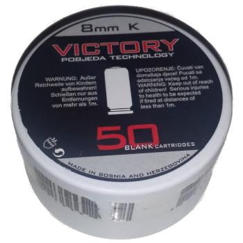 Startovací náboje pro plynovou zbraň Victory 8 mm P.A. Start , 50ks