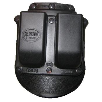 Pouzdro na 2 dvouřadé zásobníky 9mm, rotační pádlo, Fobus