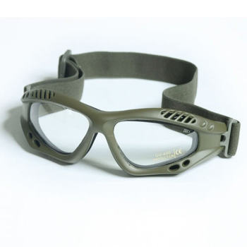 Brýle Commando Air Pro, olivové, čiré, Mil-Tec