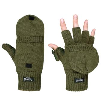 Pletené rukavice s překrytím, olivové, Mil-Tec