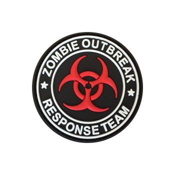 PVC nášivka Zombie Oubreak