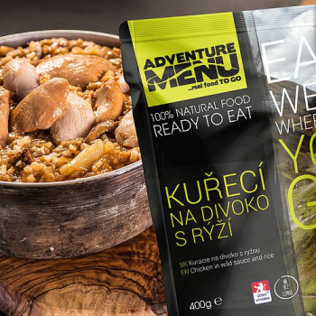 Kuře na divoko s rýží (bez lepku), Adventure Menu