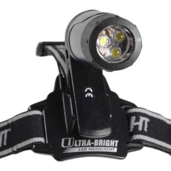 Čelovka Ultra-Bright, 3 LED, AAA