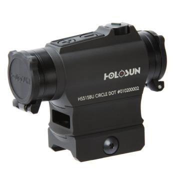 Kolimátor Holosun HS515BU, sluneční clona, flip-up krytky, pohybový senzor, QD montáž