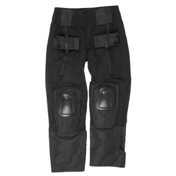 Kalhoty Warrior s kolenními chrániči, černé, Mil-Tec