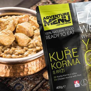 Kuře Korma s rýží, bez lepku, Adventure Menu