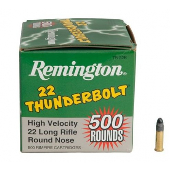 Náboje Remington .22 LR HV Thunderbolt, 500 ks