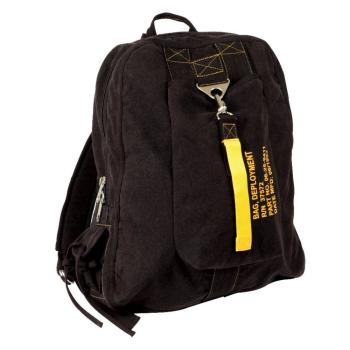 Plátěný batoh Flight Bag, černý, Rothco