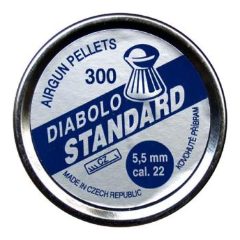 Diabolo Standard, ráže 5,5 mm (.22), 300 ks, Kovohutě Příbram