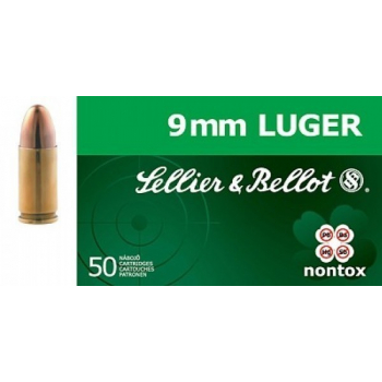 Náboje 9 mm Luger, 50 ks, Sellier&Bellot