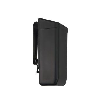 Plastové pouzdro s klipsem na opasek pro dvouřadý zásobník 9 mm, MH-06, černé, ESP