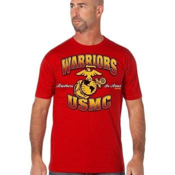 Triko 7.62 USMC Warriors, červené