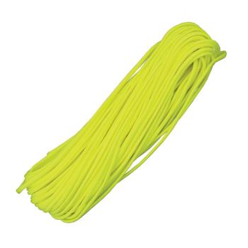 Padáková šňůra Parachute Cord 30 m, neon žlutá