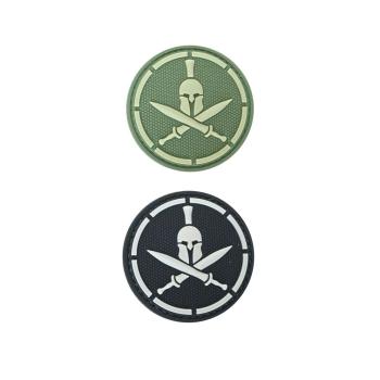PVC nášivka Spartan helmet